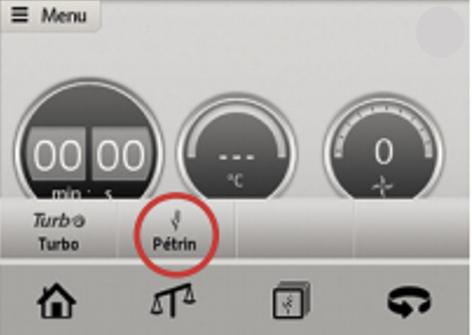 Vous pouvez ensuite activer le mode pétrin sur le cadran de vitesse et en  tournant le sélecteur, en programmant ou non la durée.